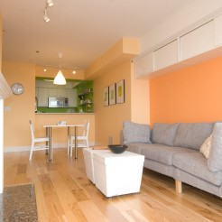 Hickory hardwood floors - Seattle condo